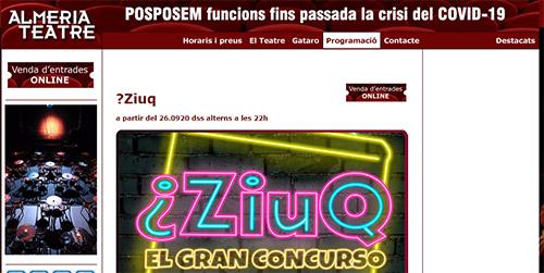 Almeria Teatre comprar entradas concurso ZIUQ